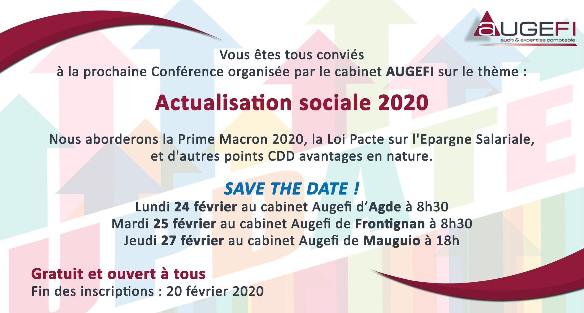 Conférence Actualisation sociale 2020