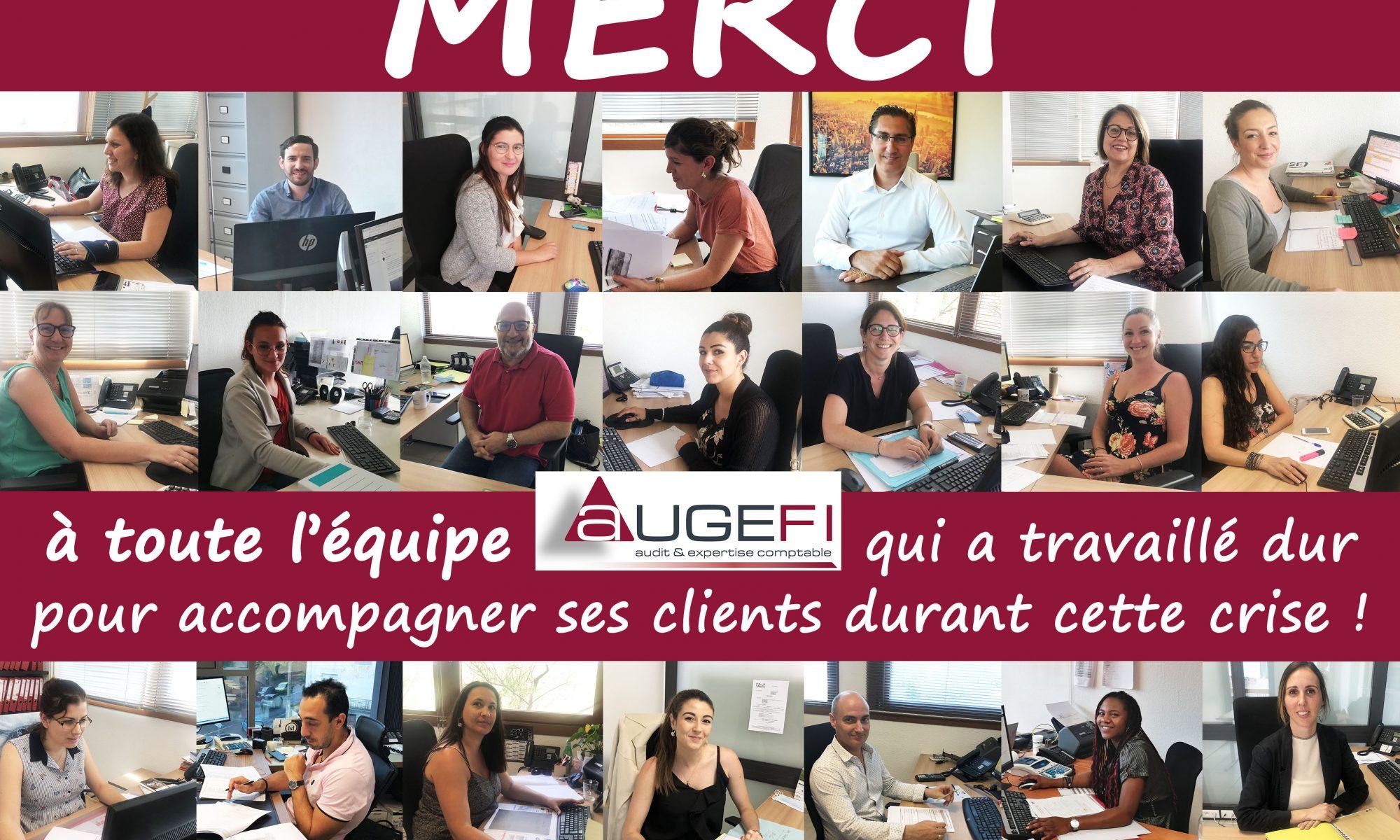Mosaïque de photos de l'équipe Augefi