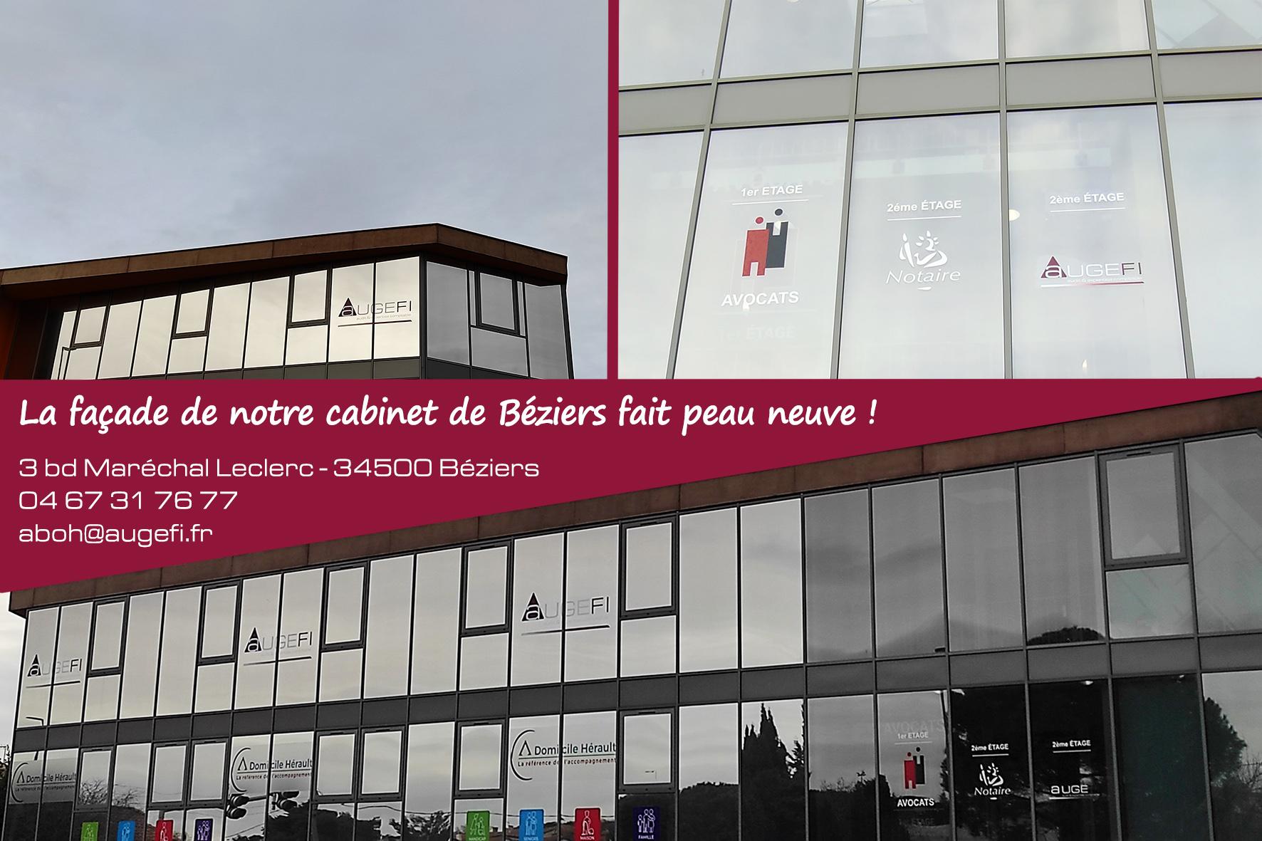 20201222 - Signalétique façade Augefi Béziers