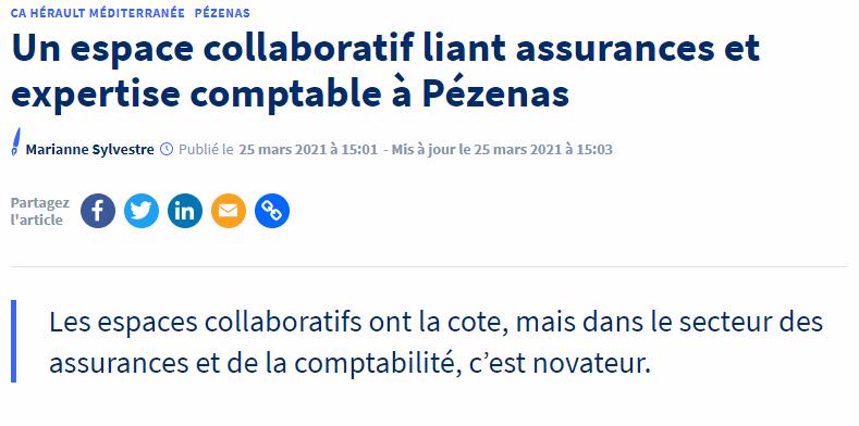 Article Hérault Tribune 25-03-2021